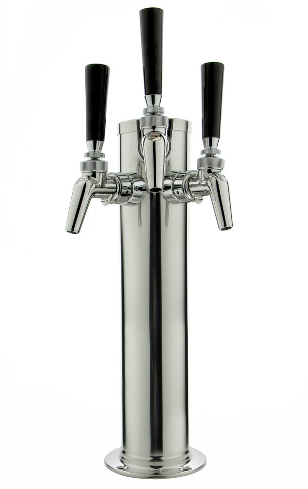 "14"" Polished Stainless Steel Draft Tower - Perlick Faucets"
