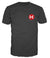 Men's Black Crew Neck T-Shirt - LARGE