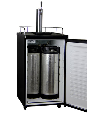 "20"" Wide Cold Brew Coffee Single Tap Stainless Steel Kegerator"