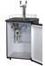 "24"" Wide Cold Brew Coffee Dual Tap Stainless Steel Kegerator"