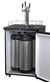 "24"" Wide Kombucha Triple Tap Black Stainless Steel Digital Kegerator"
