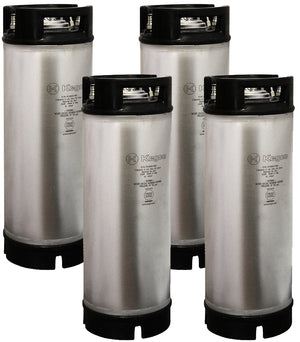 NSF Approved 5 Gallon Ball Lock Keg with Rubber Handle - Set of 4