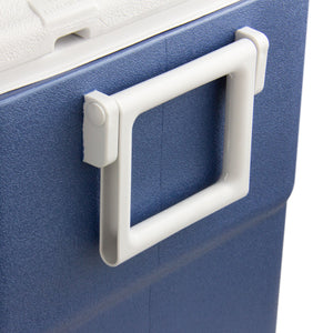 Xtreme Blue Double Tap 52 Qt. Beer Jockey Box with Center Mounted Faucets and Back Input