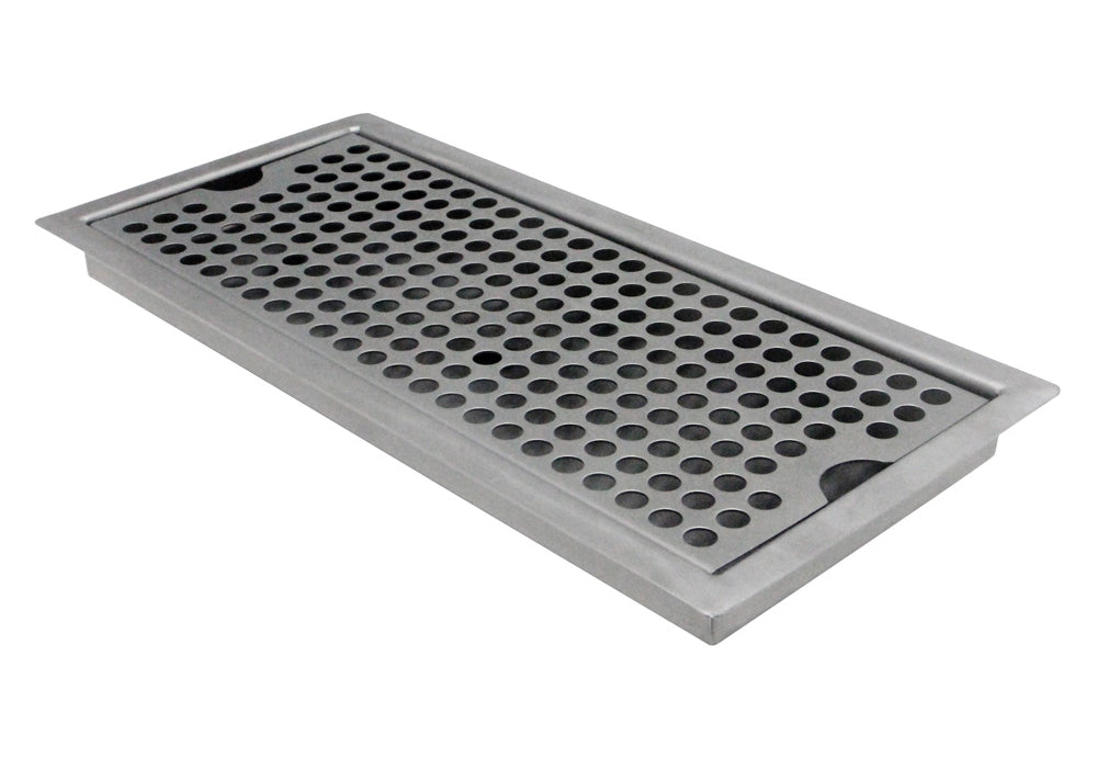 "12"" x 5"" Flush Mount Drip Tray with Drain"