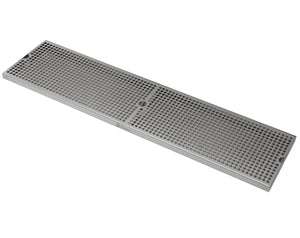 "36"" x 9"" Surface Mount Drip Tray with Drain"