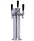 3 Faucet Brushed Stainless Steel Draft Beer Tower - 100% Stainless Steel Contact