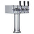 3 Faucet Polished Stainless Steel Draft Beer Tower - 100% Stainless Steel Contact