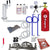 Ultimate Dual Faucet Tower Kegerator Conversion Kit with 5 lb. CO2 Tank - Ball Lock