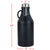 32-oz. Black Beer Growler with 2 16-oz. Stainless Steel Pint Glasses