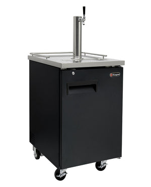 "24"" Wide Kombucha Single Tap Black Commercial Kegerator"