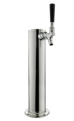 "14"" Polished Stainless Steel Draft Tower - All Stainless Contact"