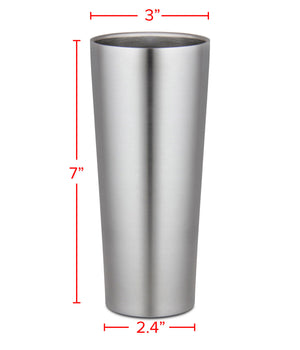 Hipster Holiday 16 oz. Stainless Steel Vacuum Beer Cup Set