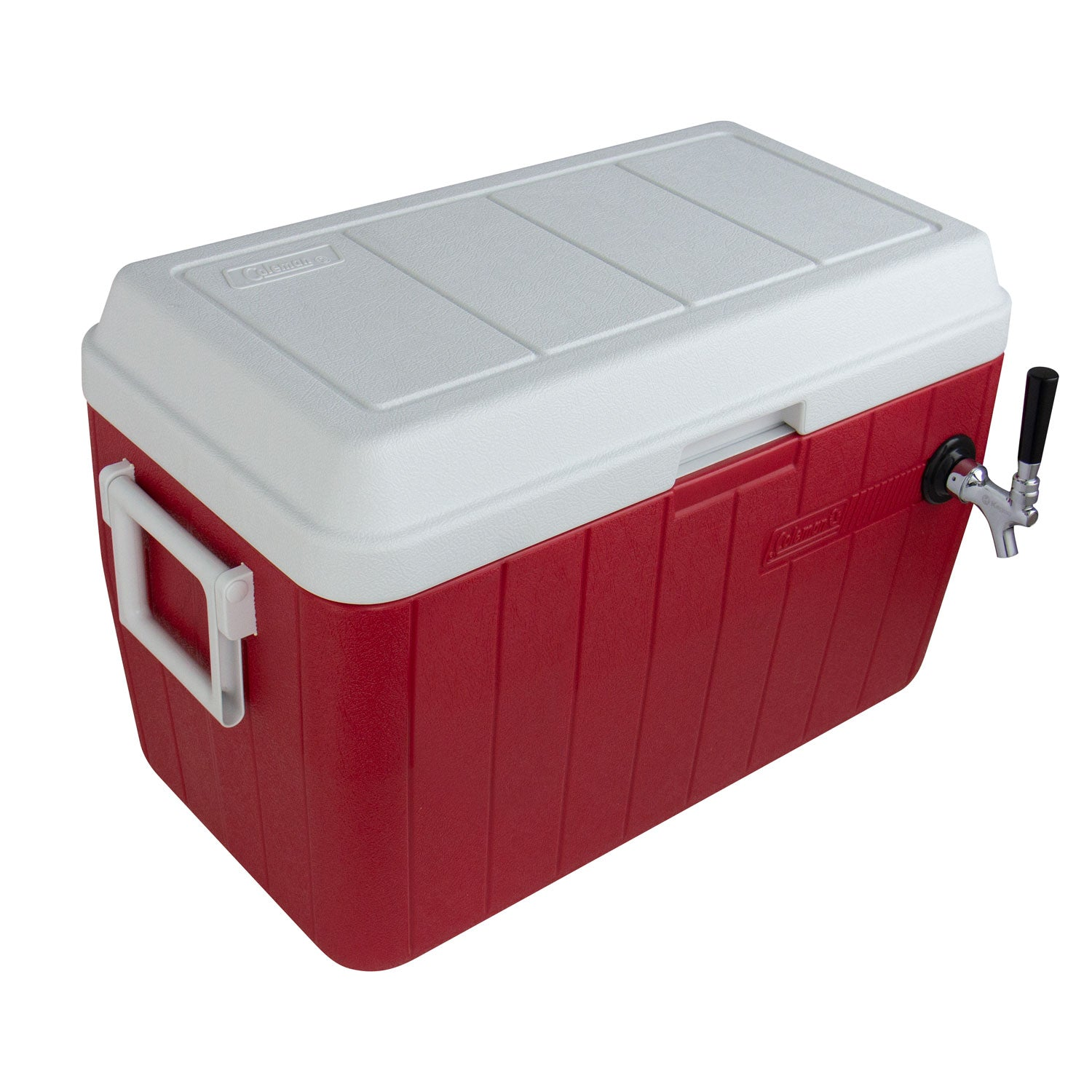 Red Single Tap 54 Qt. Beer Jockey Box with Side Mounted Faucet
