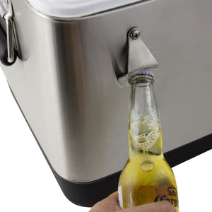 Stainless Steel Single Tap 54 Qt. Beer Jockey Box with Side Mounted Faucet