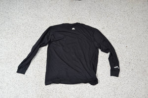 LONG SLEEVE TEE - Bone on Black