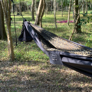 custom made hammock(黒・豹柄)