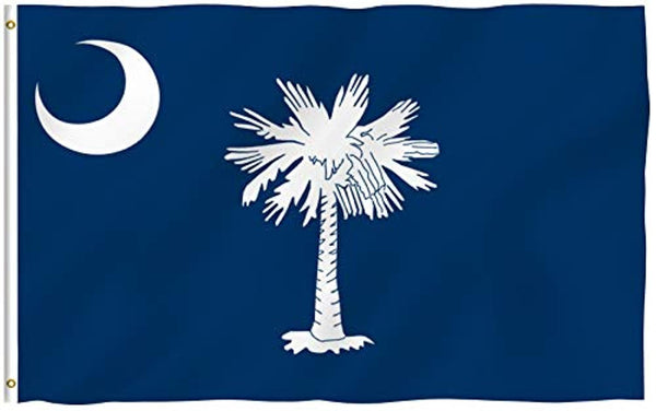 South Carolina State Polyester Flag - Heavy Duty UV Fade Resistant