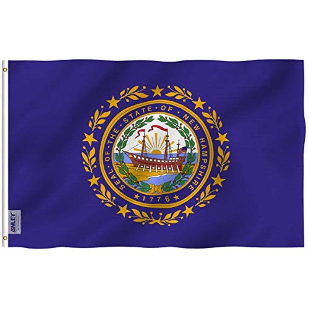 New Hampshire State Flag - Vivid Color and UV Fade Resistant