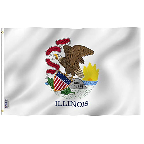 Illinois State Flag - Out door High Quality