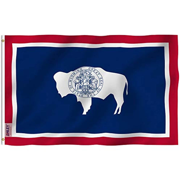 Wyoming State Flag - Vivid Color and UV Fade Resistant