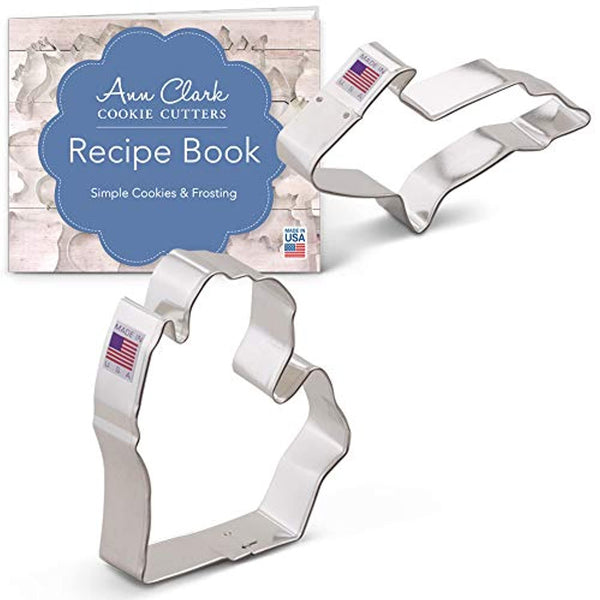 State of Michigan Cookie Cutters 2-Piece Upper and Lower Peninsula includes Recipe Booklet