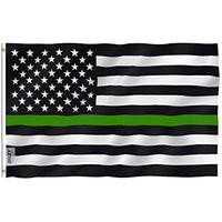 Thin Green Line USA Flag  - Military Support our Troops