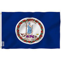 Virginia State Polyester Flag - Vivid Color and UV Fade Resistant