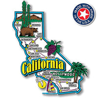 California State Jumbo Map Magnet