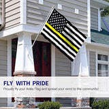 Thin Yellow Line USA Flag -  Honoring Dispatchers