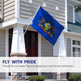 Official Flag State of Pennsylvania Weather Proof Winter Outdoor