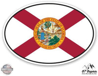 GT Graphics Florida State Flag Oval - Vinyl Sticker Waterproof Decal