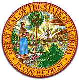 Florida State Seal (2 Pack) Vinyl Decal Sticker - Car Truck Window