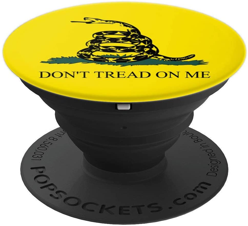 Gadsden Flag Don't Tread on Me PopSockets Grip and Stand for Phones and Tablets
