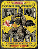 "Desperate Enterprises Don't Tread On Me Tin Sign, 12.5"" W x 16"" H"