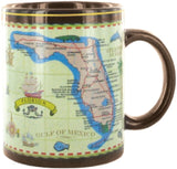 Mug Florida Gift Antique Brown Map of Florida Ceramic Coffee Mug