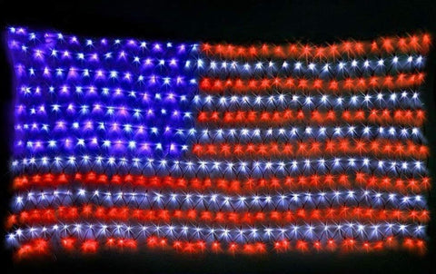Red, White, and Blue String Lights American Flag LED