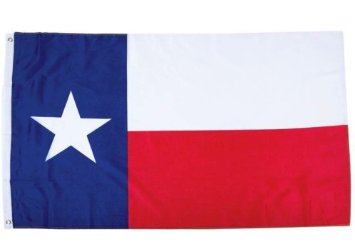 Texas State Flag Lone Star TX USA Grommets