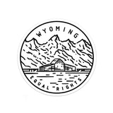 Wyoming Sticker Decal Multiple sizes
