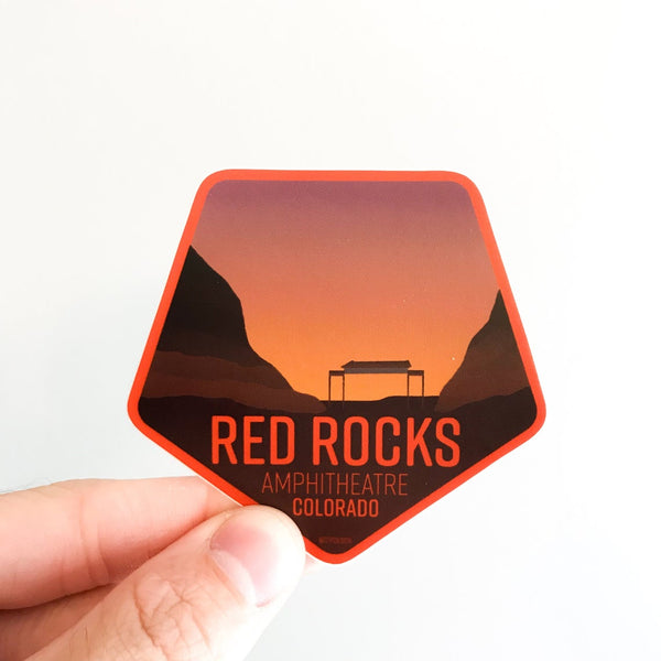 Red Rocks Ampthitheatre Vinyl Sticker