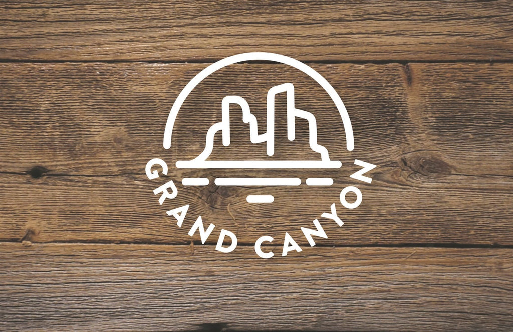 Grand Canyon Circle Diecut Sticker
