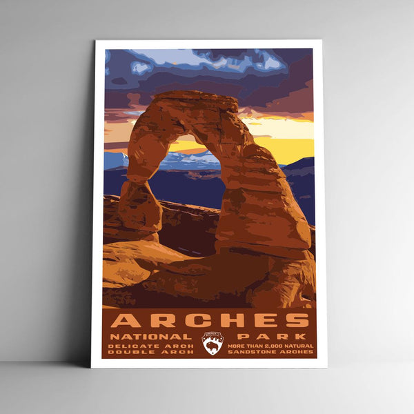 Arches National Park Vintage Utah 8x10