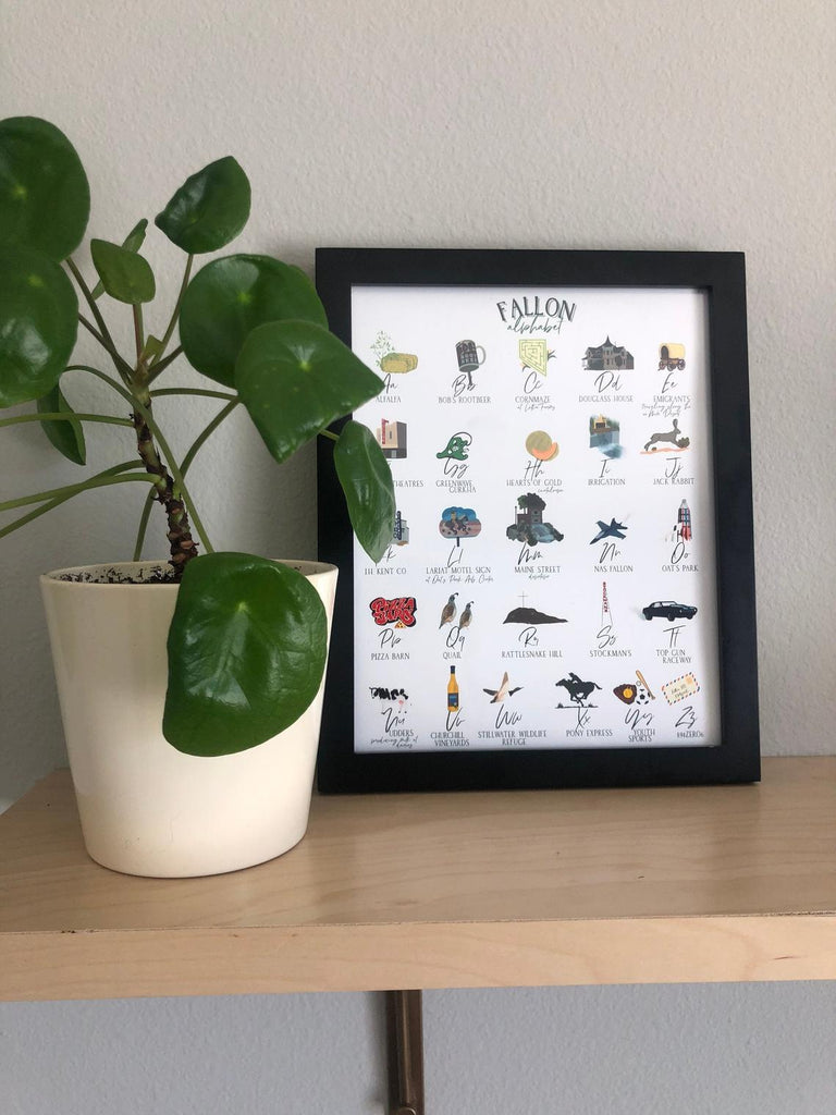 Fallon Nevada Alphabet Print