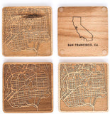 SF California Beech Wood Coasters
