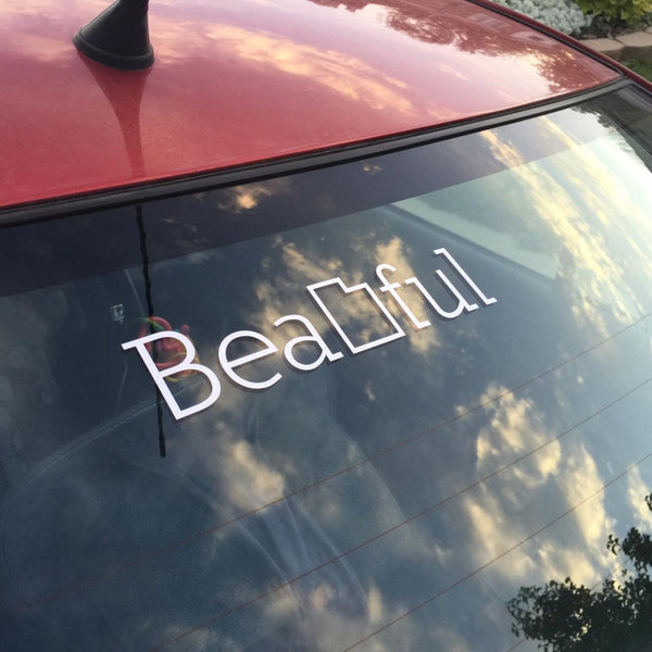 Bea utah-ful car decal