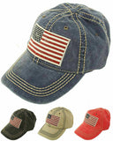 American Flag Vintage Washed Cotton Hat