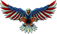 American Flag Red White and Blue Bald Eagle Sticker