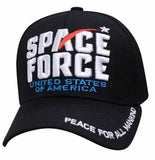 Peace for all Mankind United States of America Space Force Black Baseball Hat