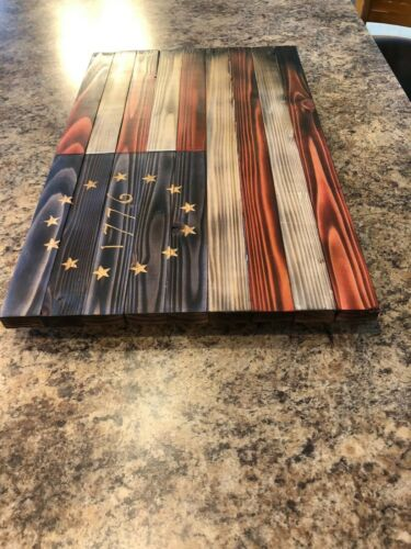 Hand Mad Wooded Art Betsy Ross American Flag- 21x13