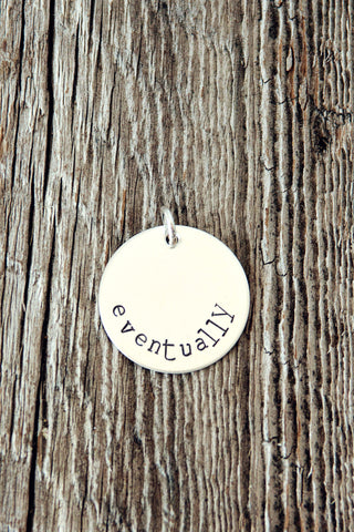 Round Sterling Silver Charm (7/8 inch)