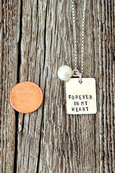 Forever In My Heart Bereavement Necklace